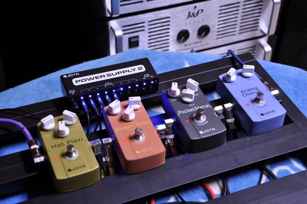 Overdrive pedals on the board